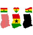 map of Ghana vector image vector image