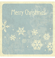 merry christmas retro card vector image