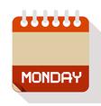 Monday Paper Calendar vector image
