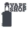Monochrome logo of an electronic cigarette vector image vector image