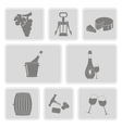 monochrome set with wine icons vector image vector image