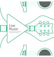 Music banner with line guitar musical