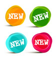new labels in colorful round shapes vector image vector image