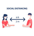 new normal concept keep social distancing vector image vector image