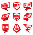 new product status labels vector image vector image