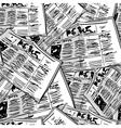 Newspaper monochrome vintage seamless background vector image vector image
