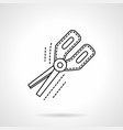 office scissors flat line icon vector image vector image