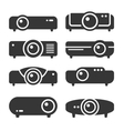 Projector Icon Set on White Background vector image vector image