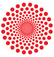 Red dot spiral vector image vector image