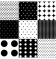 seamless black white pattern or background vector image vector image