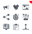 seo and web opimization icons set vector image vector image