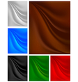 Set backgrounds with pleats on the fabric vector image vector image