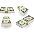 set of two dollars banknotes vector image vector image