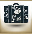 simple labeled suitcase vector image vector image
