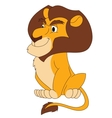 Smiling lion sitting vector image vector image