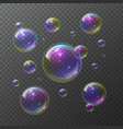 soap bubbles abstract foam bubble shampoo clear vector image vector image