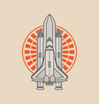 Space rocket logo design