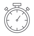 stopwatch thin line icon measure and countdown vector image vector image