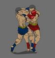 thai boxing or muay thai martial art vector image vector image