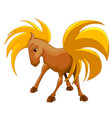 the smiling horses on a white vector image vector image