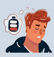 tired people concept in sleeping dozing relaxing vector image vector image