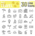 travel line icon set tourism symbols collection vector image vector image