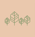 trees line minimalist icon vector image