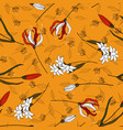 vintage background hand drawn trendy floral vector image vector image