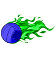 volleyball ball with simple vector image vector image