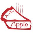 warm apple pie vector image vector image