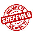 welcome to sheffield vector image vector image