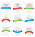 White banner cards with ribbons isolated on vector image vector image
