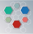 Hexagons background for infographics vector image