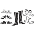 set of retro shoes vector image