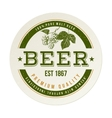 beer emblem with hand drawn hop brunch vector image