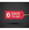 6 days left sale vector image