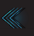 abstract blue line light cyber arrow direction vector image vector image