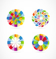 Abstract colors logo icon set element vector image vector image