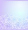 beautiful purple blue rose flower background vector image vector image