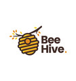 bee hive tree branch logo icon