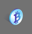 bitcoin currency rounded icon vector image