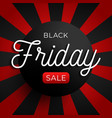 black friday sale circle banner on red and vector image vector image