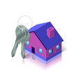 bunch of keys and house apartment and flat vector image