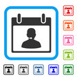 call center manager calendar day framed icon vector image vector image