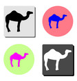 camel flat icon vector image vector image