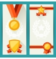 Certificate templates with awards in flat design vector image vector image