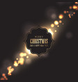 christmas background with gold bokeh lights vector image vector image
