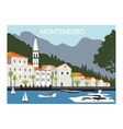 City in Montenegro vector image vector image