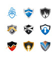 collection abstract shield logo design vector image