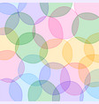 colorful circles pattern background design vector image vector image